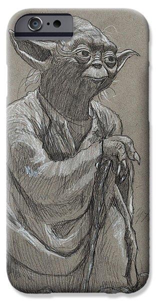 Yoda iPhone 6 Case - Yoda by Tom Carlton