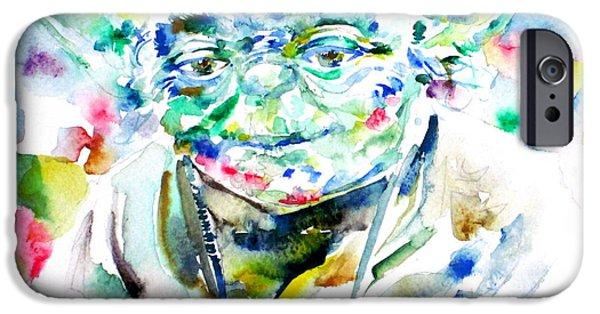 Yoda iPhone 6 Case - Yoda Watercolor Portrait.1 by Fabrizio Cassetta