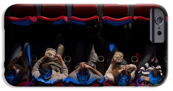Women In Film iPhone 6 Case - Young People Sitting At The Cinema by Stock- df7fb397b5
