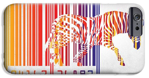 Dissing iPhone 6 Case - Zebra Barcode by Mark Ashkenazi