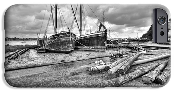 Boats And Logs At Pin Mill  IPhone 6 Case by Gary Eason