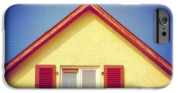 House iPhone 6 Case - Gable Of Beautiful House In Front Of Blue Sky by Matthias Hauser
