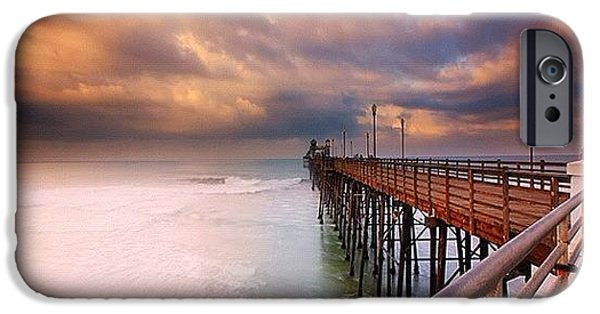 Long Exposure Sunset At The Oceanside IPhone 6 Case by Larry Marshall
