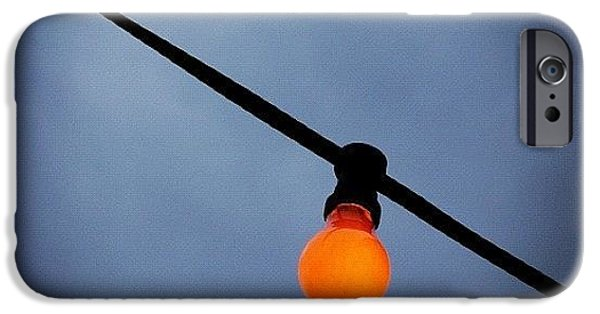 Bright iPhone 6 Case - Orange Light Bulb by Matthias Hauser