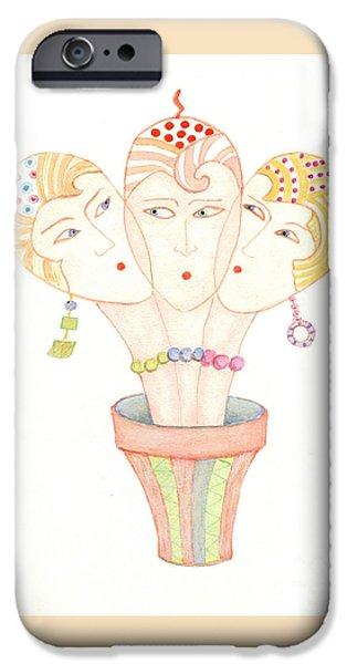Flower Pot Ladies IPhone 6 Case by Nareeta Martin