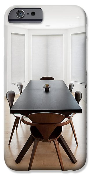 Electrical Equipment iPhone Cases - A House With A Large Airy Dining Room iPhone Case by Christian Scully