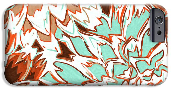 Nature Divine iPhone Cases - Abstract Flowers 12 iPhone Case by Sumit Mehndiratta