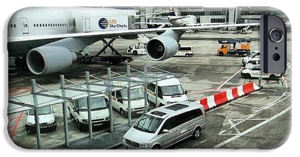 Follow iPhone 6 Case - #airport #manchester #plane #car #cloudy by Abdelrahman Alawwad