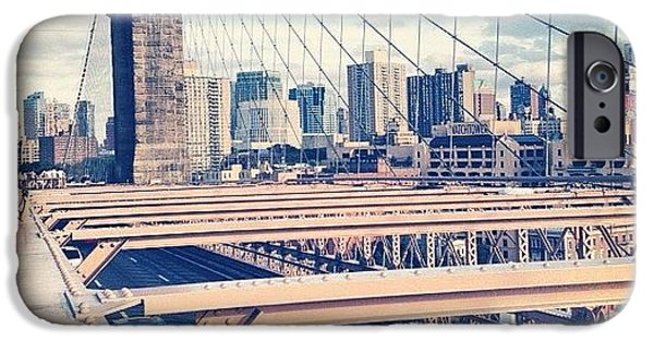 Blue iPhone 6 Case - Another Day On Brooklyn Bridge by Randy Lemoine