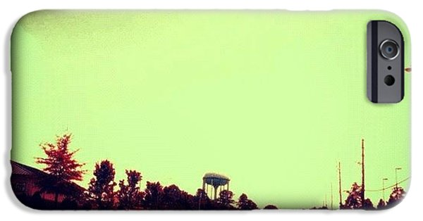 #cary #driving #sky #red #watertower IPhone 6 Case