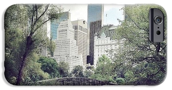 Blue iPhone 6 Case - Central Park by Randy Lemoine