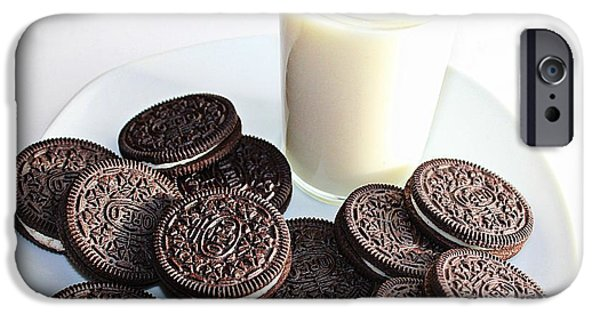 Oreos iPhone Cases - Cookies and Milk iPhone Case by Barbara Griffin
