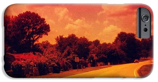 #driving #sky #clouds #road #summer IPhone 6 Case