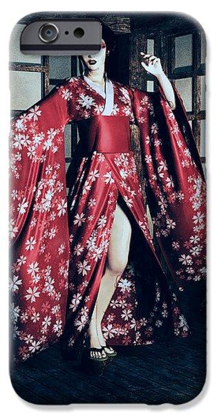 Geisha iPhone Case by Maynard Ellis