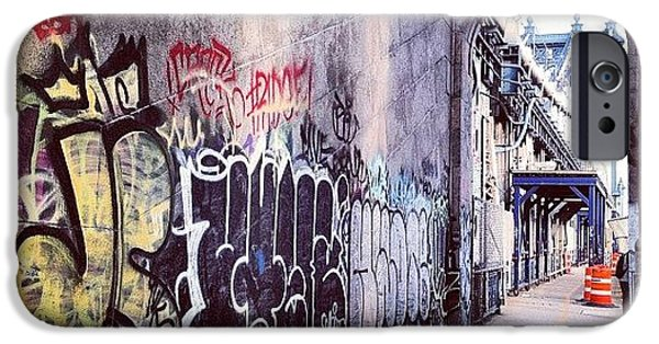 Blue iPhone 6 Case - Graffiti Bridge by Randy Lemoine