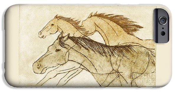 IPhone 6 Case featuring the drawing Horse Sketch by Nareeta Martin