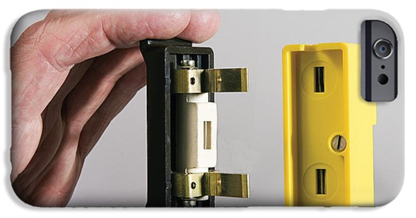 Safety Fuse iPhone 6 Case - Inserting A 20 Amp Fuse by Sheila Terry