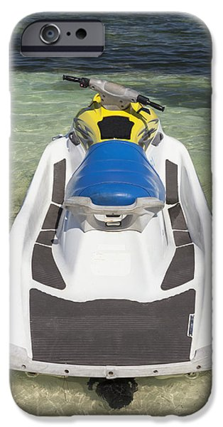 Jet Ski iPhone 6 Case - Jet Ski In Shallow Water At The Waters by Bryan Mullennix