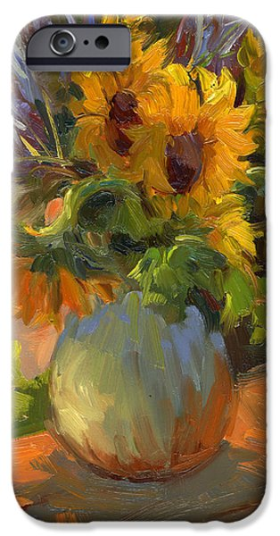 `les iPhone Cases - Les Tournesols iPhone Case by Diane McClary