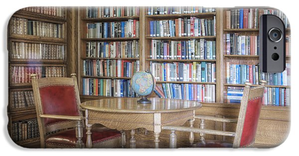 Built Structure iPhone Cases - Library With Table And Chairs iPhone Case by Douglas Orton