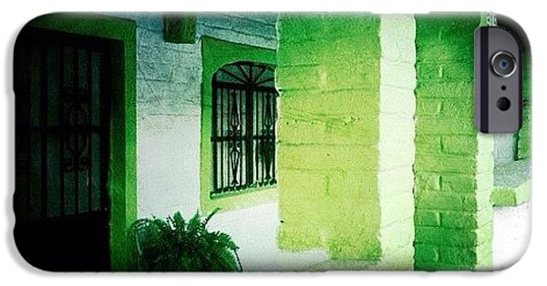 Colorful iPhone 6 Case - Lime Green & White House (puerto by Natasha Marco