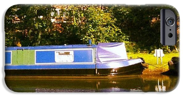 Summer iPhone 6 Case - Narrowboat In Blue by Isabella Shores