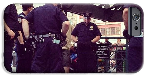 Blue iPhone 6 Case - Nypd by Randy Lemoine