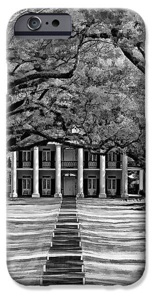 Oak Alley monochrome iPhone Case by Steve Harrington