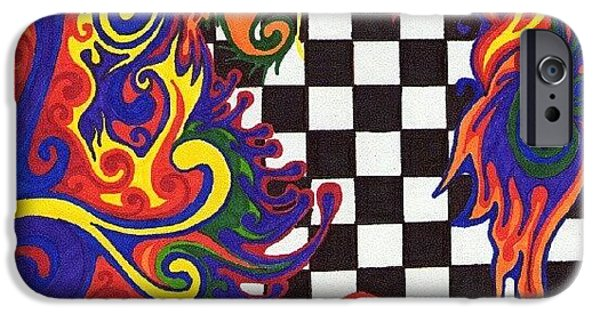 Colorful iPhone 6 Case - One Of A Kind Sharpie Art From by Mandy Shupp