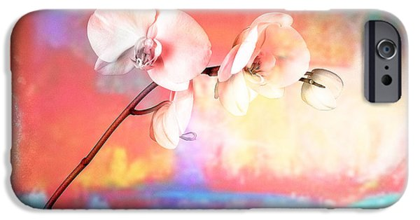Leaning Pyrography iPhone Cases - Orchid 3 iPhone Case by Mauro Celotti
