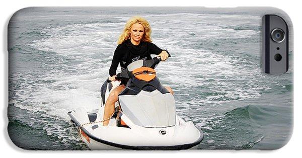 Jet Ski iPhone 6 Case - Pamela Anderson Is A Jet Ski Vixen by Nina Prommer