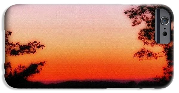 Edit iPhone 6 Case - Soft Sunset In The Smokies by Mari Posa