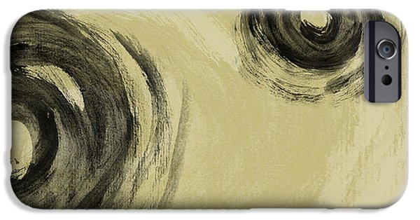 Abstract Digital Pastels iPhone Cases - Storm iPhone Case by Nomi Elboim