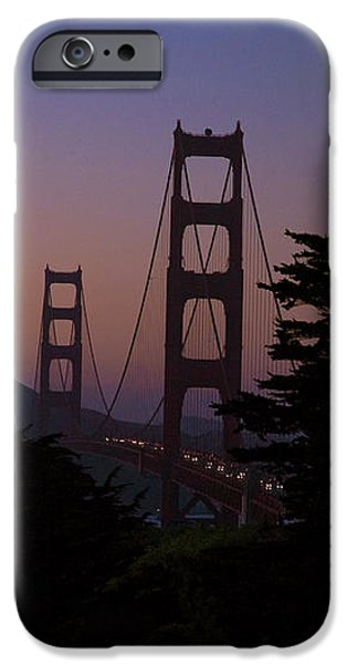 Sunset on the Golden Gate iPhone Case by Tim Mulina