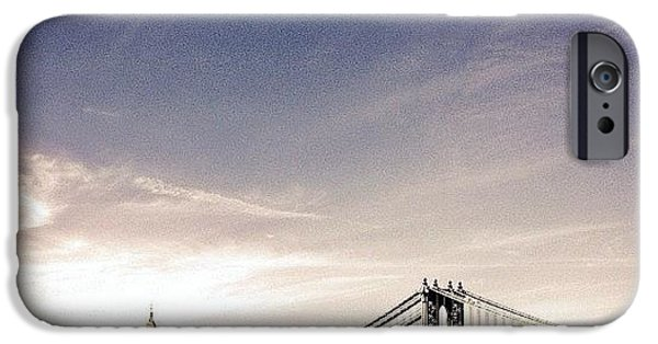 The Manhattan Bridge And New York City Skyline IPhone 6 Case