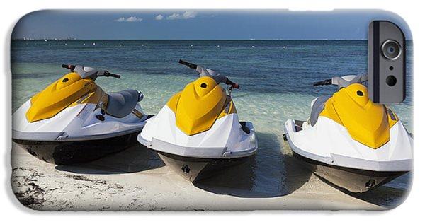 Jet Ski iPhone 6 Case - Three Jet Skis On The Beach At Cancun by Bryan Mullennix