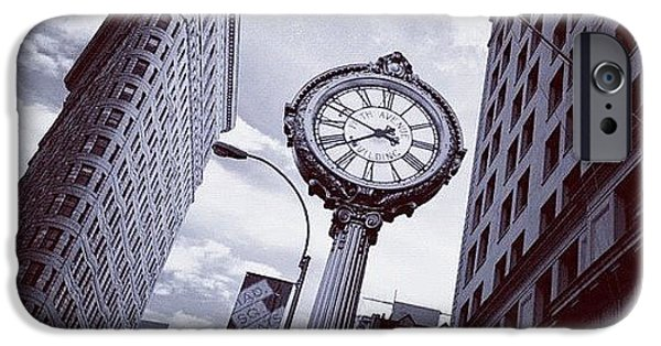 Blue iPhone 6 Case - Tick Tock by Randy Lemoine