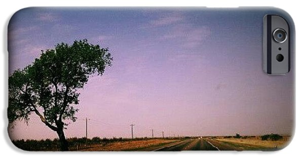 Follow iPhone 6 Case - #usa #america #road #tree #sky by Torbjorn Schei