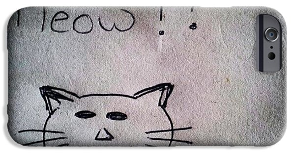 Follow iPhone 6 Case - What My Room Mates Draw! #cat #drawing by Abdelrahman Alawwad