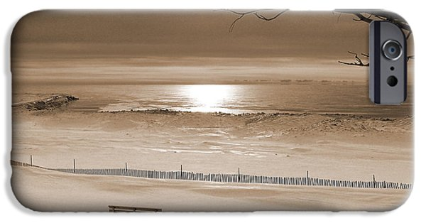 Winter Beach Morning Sepia IPhone 6 Case by Bill Pevlor