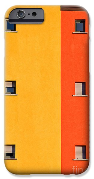 Colorful iPhone 6 Case - Yellow Orange Blue With Windows by Silvia Ganora
