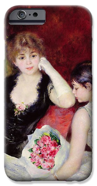 White Glove iPhone Cases -  At the Concert iPhone Case by Pierre Auguste Renoir
