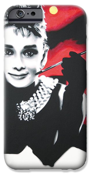 Ludzska iPhone Cases - - Breakfast at Tiffannys -  iPhone Case by Luis Ludzska