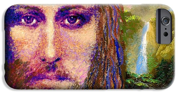 Figurative iPhone 6 Case -  Contemporary Jesus Painting, Chalice Of Life by Jane Small