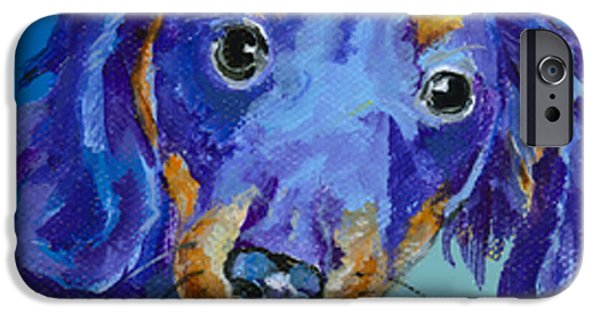 Mini Dachshund iPhone Cases -   Dach iPhone Case by Pat Saunders-White