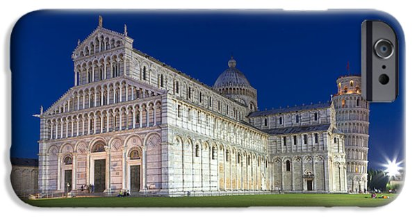 The Duomo iPhone Cases -  Night in Pisa iPhone Case by Sebastian Wasek