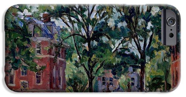 Pissarro iPhone Cases -  Williams College Quad iPhone Case by Thor Wickstrom