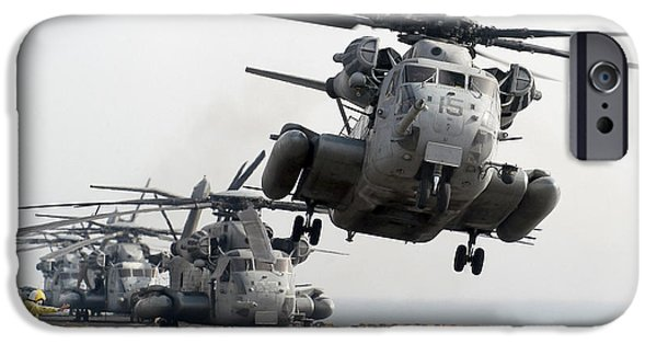 Iraq iPhone Cases - A Ch-53e Super Stallion Lifts iPhone Case by Stocktrek Images