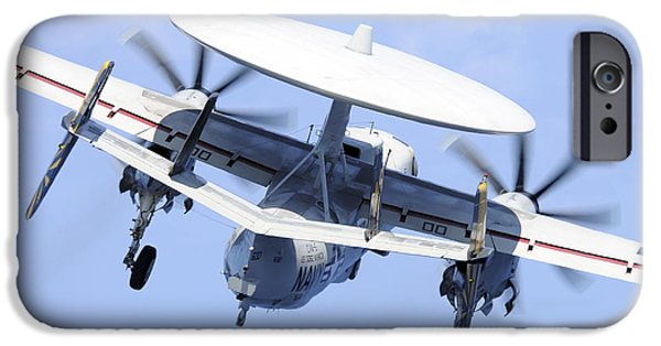 Electronic iPhone Cases - An E-2c Hawkeye Launches iPhone Case by Stocktrek Images
