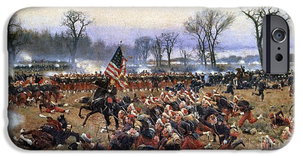Old Glory Paintings iPhone Cases - Battle Of Fredericksburg iPhone Case by Granger
